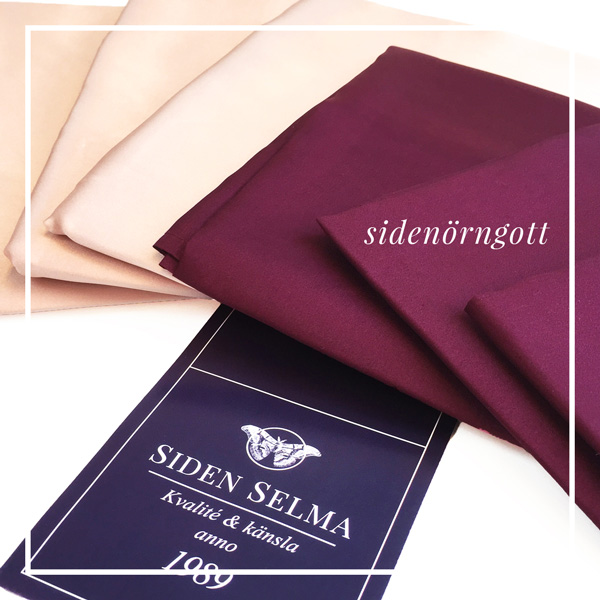 Silk pillow cases. AMAZING for your hair! Scandinavias largest silk supplier.